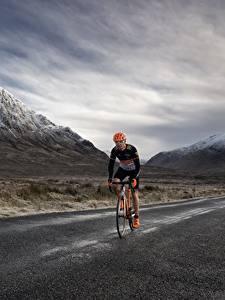 Bilder Gebirge Wege Fahrrad Geschwindigkeit Natur