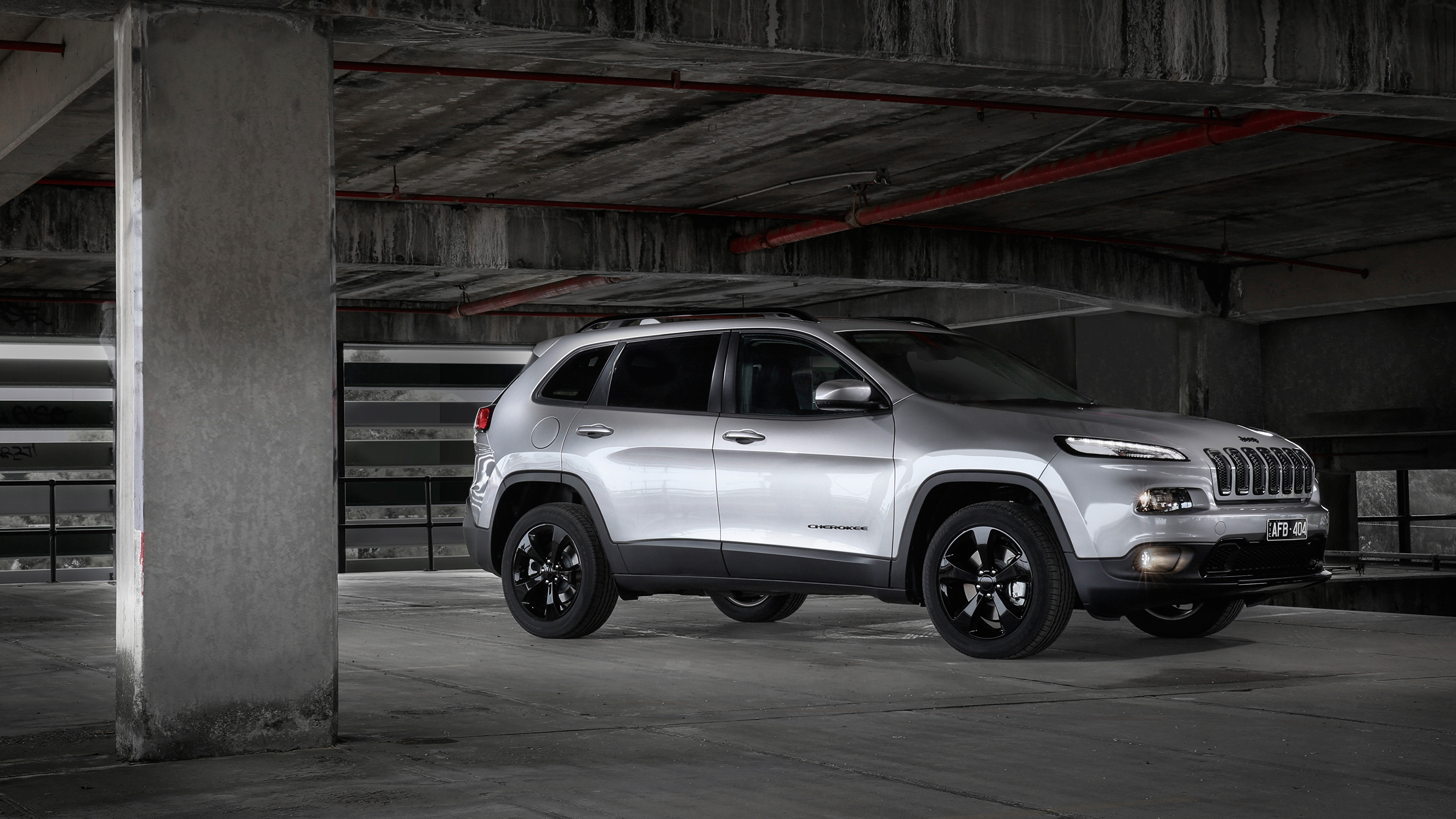 Papeis De Parede 3840x2160 Jeep Cherokee 2015 Blackhawk Prata Cor Lateralmente Carros Baixar Imagens