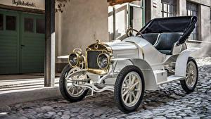 Hintergrundbilder Antik Weiß Metallisch Cabrio 1908 Laurin Autos