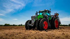 Fotos Himmel Acker Grün Traktoren Fendt, 942, Vario