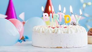 Hintergrundbilder Torte Kerzen Geburtstag Feuer