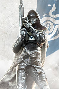 Fotos Destiny 2 Krieger Kapuze Helm Rüstung Spiele
