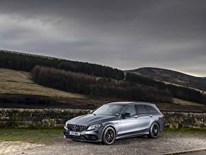 Image Mercedes-Benz Silver color 2018-19 AMG C 63 S Estate Cars