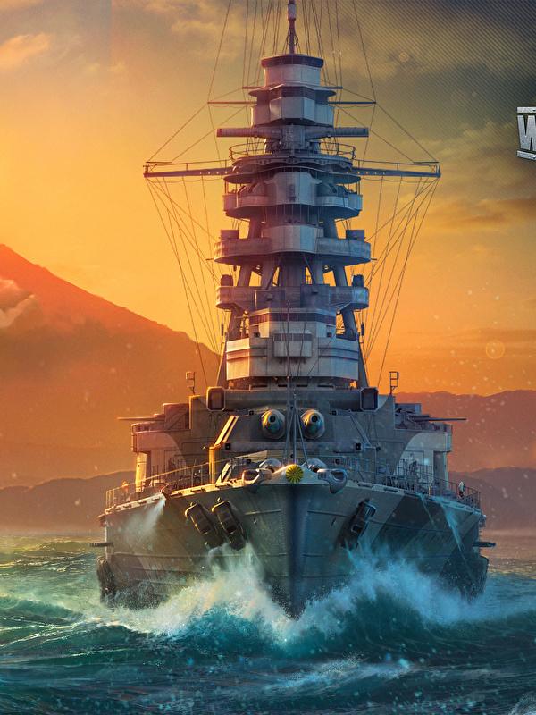 Fotos von World Of Warship Japanisch Mutsu Sonne Spiele Schiffe Sonnenaufgänge und Sonnenuntergänge Heer 600x800