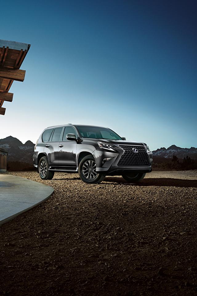 Desktop Hintergrundbilder Lexus Sport Utility Vehicle 2020 GX 460 graue automobil Metallisch 640x960 für Handy SUV Grau graues auto Autos