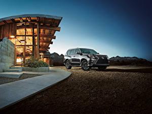 Bilder Lexus Sport Utility Vehicle Graues Metallisch 2020 GX 460 Autos