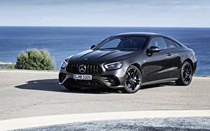 Tapety na pulpit Mercedes-Benz Szary Coupé  Samochody