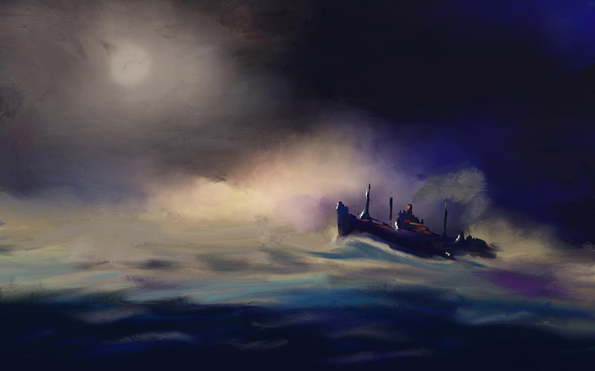 壁紙 19x10 船 描かれた壁紙 ダウンロード 写真