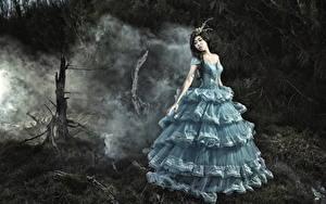 Hintergrundbilder Asiatische Kleid Schön Mädchens