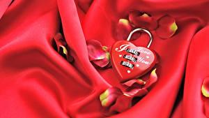 Papéis de parede Dia dos Namorados Vermelho Coração Pétala Cadeados