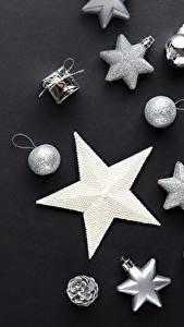 Bilder Neujahr Stern-Dekoration Kugeln
