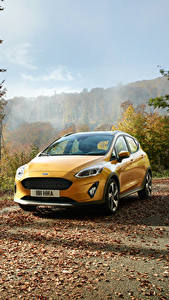 Fotos Ford Gelb 2017 Fiesta Active Worldwide automobil