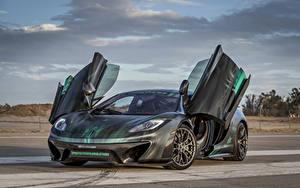 Bakgrundsbilder på skrivbordet McLaren Tuning Grå Öppna dörr 2013-16 Vorsteiner MP4-VX Bilar