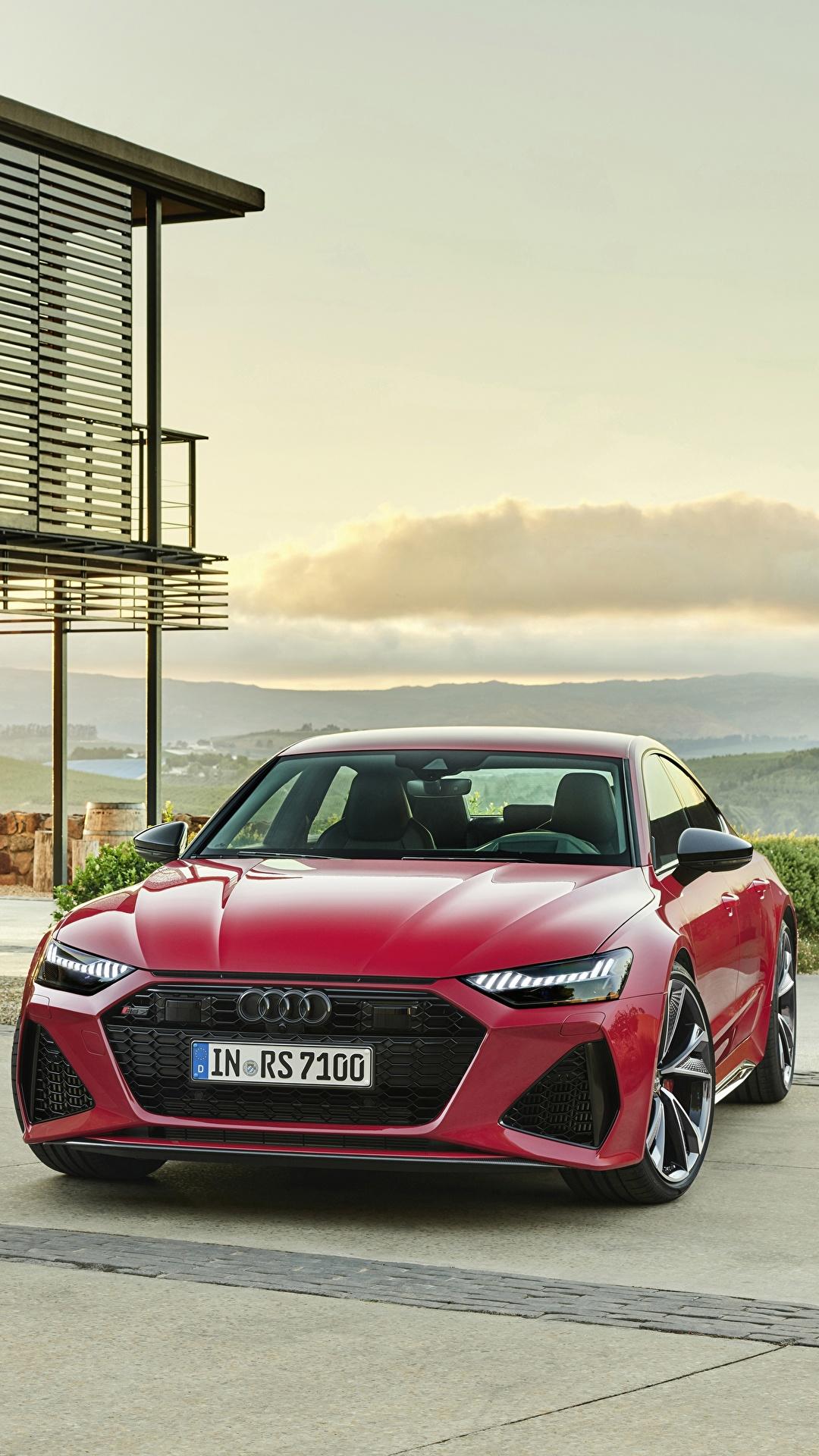 Fonds D Ecran 1080x1920 Audi Sportback Rs 7 2020 Devant Rouge Metallique Voitures Telecharger Photo