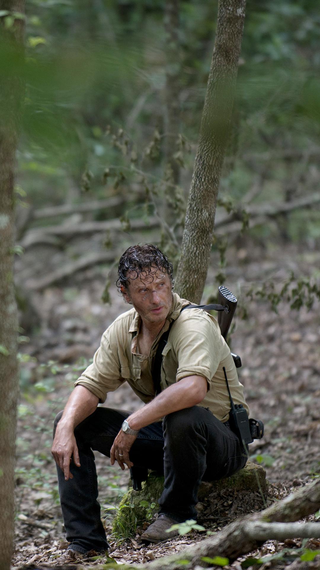 Photo The Walking Dead Tv Andrew Lincoln Men Rick Grimes 1080x1920