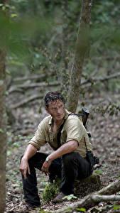Hintergrundbilder The Walking Dead Mann Andrew Lincoln Sitzt Rick Grimes Film Prominente
