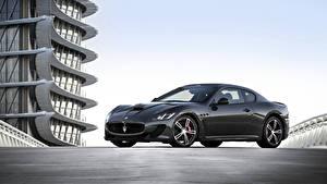 Hintergrundbilder Maserati Pininfarina Grau Metallisch 2013-17 GranTurismo MC Stradale Worldwide Pininfarina Autos