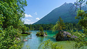 Bilder Deutschland Berg See Wald Steine Bayern Ast Natur