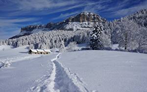 Hintergrundbilder Winter Gebäude Wälder Berg Landschaftsfotografie Schnee Weg Felsen Natur