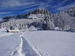 Hintergrundbilder Winter Gebäude Wälder Gebirge Landschaftsfotografie Schnee Weg Felsen Natur