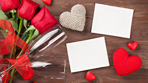 Papéis de parede Dia dos Namorados Rosas Vermelho Copo de vinho Cartão do molde Coração Folha de papel Flores