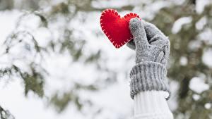 Bilder Valentinstag Herz Hand Handschuh