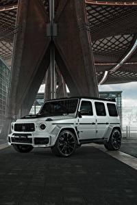 Hintergrundbilder Mercedes-Benz Brabus Sport Utility Vehicle Weiß 2020 Brabus 700 Widestar