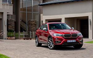 Bilder BMW Rot Vorne Metallisch Turnschuh Sports Activity Coupe, X6 automobil