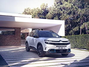 Fotos Citroen Weiß Hybrid Autos Softroader 2020 C5 Aircross SUV Hybrid Worldwide