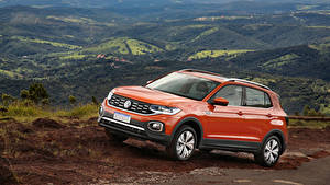 Bilder Volkswagen Orange Metallisch 2019 T-Cross 250 TSI Highline Latam Autos