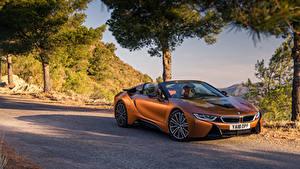 Fotos BMW Orange Roadster 2018 i8 Autos