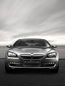 桌面壁纸,,BMW,正面圖,灰色,轎跑車,Concept F13 6-Series,汽车
