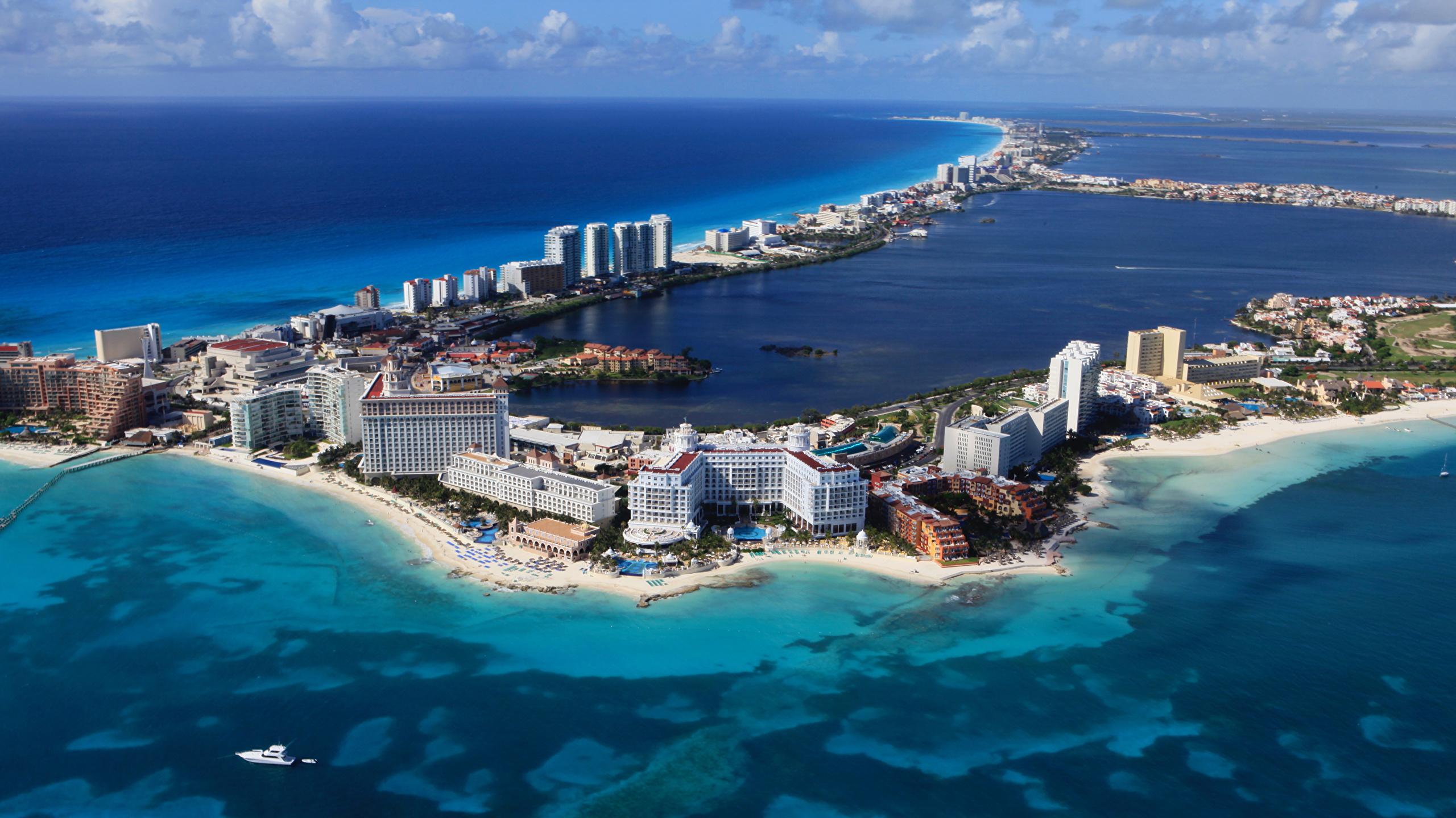 Picture Mexico Cancun Sea Coast Cities Building 2560x1440