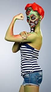 Fotos Zombie Make Up junge Frauen