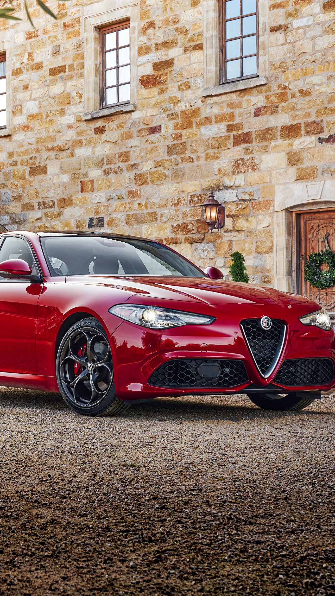 Wallpaper Alfa Romeo 2016 17 Giulia Red Cars Metallic 1080x1920