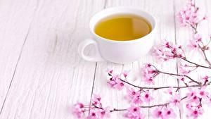 Hintergrundbilder Tee Tasse Japanische Kirschblüte Bretter Lebensmittel