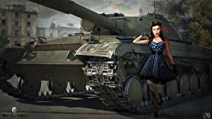 Bilder World of Tanks Panzer Russische Nikita Bolyakov Object 430 Spiele Mädchens