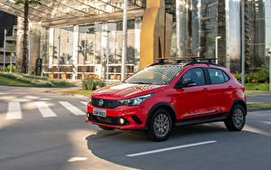 Hintergrundbilder Fiat Rot Metallisch 2019 Argo Trekking Autos