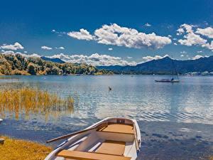 Fotos See Boot Landschaftsfotografie Deutschland Wolke Bayern Lake Chiemsee, Chiemgau