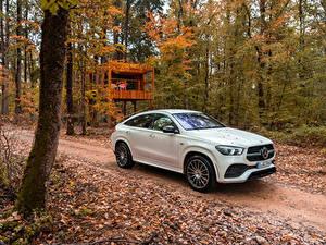 Hintergrundbilder Mercedes-Benz Weiß Metallisch Hybrid Autos