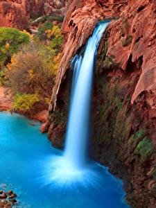 Hintergrundbilder Grand Canyon Park Vereinigte Staaten Park Wasserfall Canyons