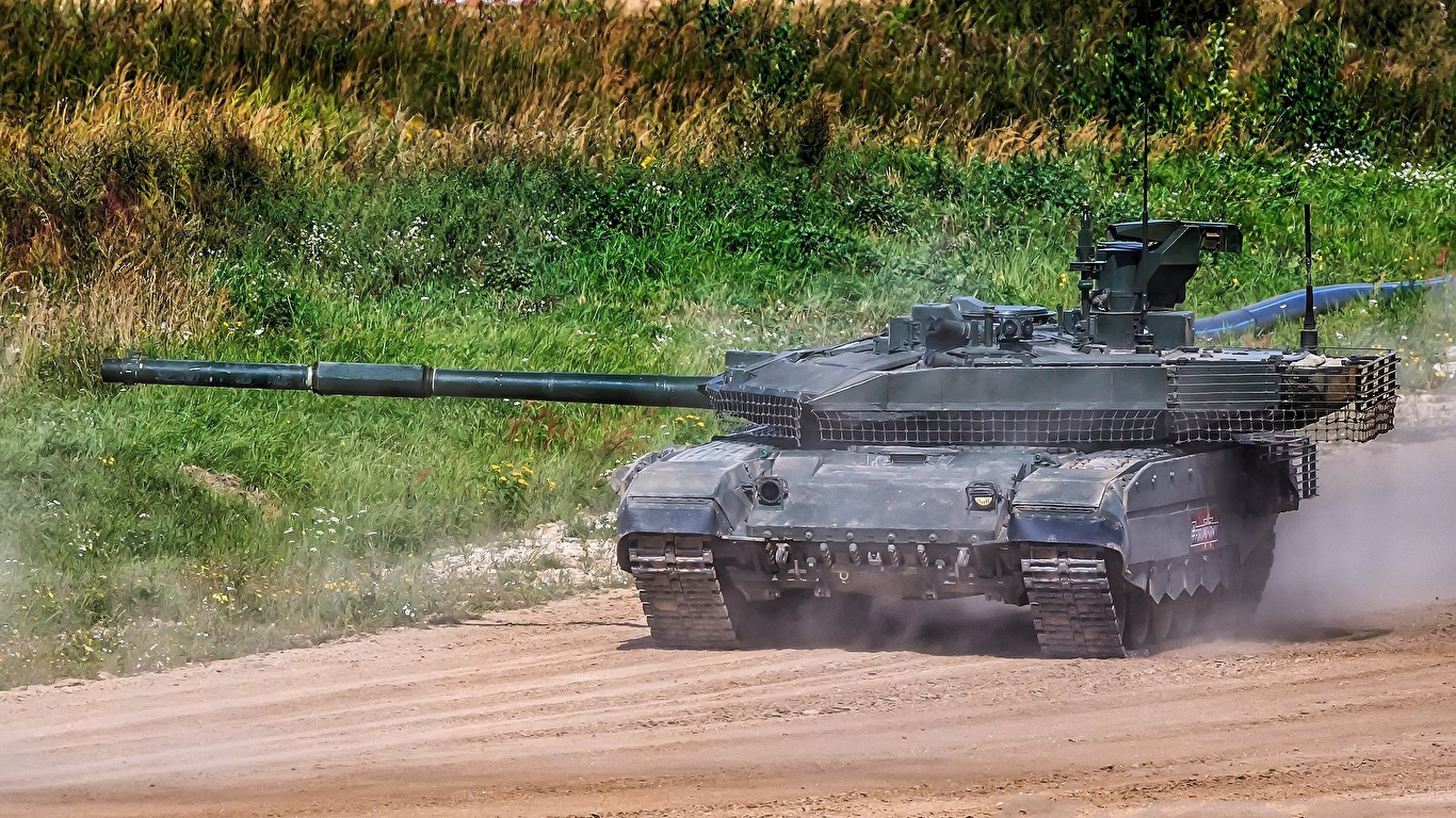 Image Tanks Russian T-90M military 1366x768 tank Army