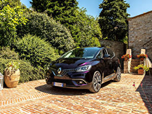Hintergrundbilder Renault Bordeauxrot Metallisch 2017-19 Scenic Initiale Paris Worldwide Autos
