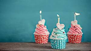 Bilder Cupcake Kerzen Drei 3 Herz