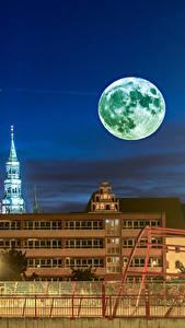 Hintergrundbilder Deutschland Gebäude Nacht Mond Zaun Zwickau Städte