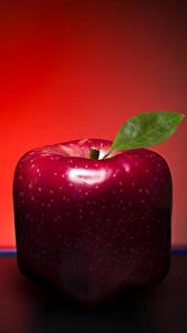 Fotos Äpfel Großansicht Kreativ Rot Lebensmittel