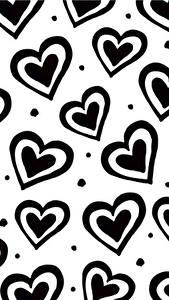 Fondos de Pantalla Textura Corazón En blanco y negro