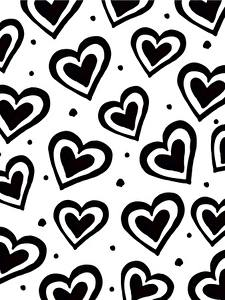 Picture Texture Heart Black and white