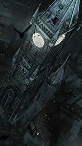 Bilder Thief Haus Krähe Uhr Türme Von oben computerspiel Städte