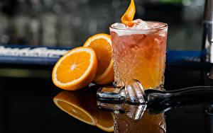 Fotos Cocktail Alkoholische Getränke Orange Frucht Trinkglas Eis Lebensmittel